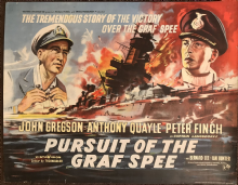 Pursuit of the Graf Spee (1957) Film Poster - British Half Sheet